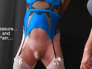 Enjoyment ache - femdom mistresse cbt session with sissy villein